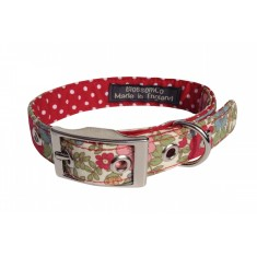 Green floral dog collar