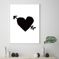 Love heart art print (various sizes)