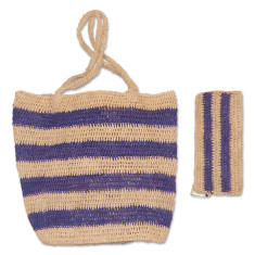 Bob raffia bag set (various colours)
