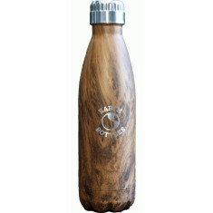 Faux wood double insulated stainless steel water bottle