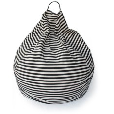 Glammclassic beanbag in black & white stripe