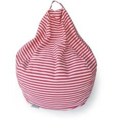 Glammclassic beanbag in pink & white stripe