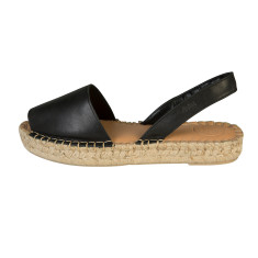Alohas Black Ibiza Leather Sandal