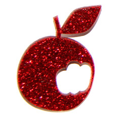 Sparkle red apple brooch