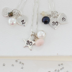 Celebrate 30th Birthday Necklace