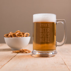 Personalised Beer Goes Here Tankard