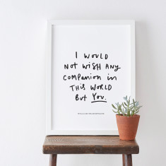 Companion Shakespeare Literary Quote Print
