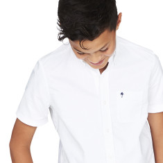 Boys White Oxford Shirt