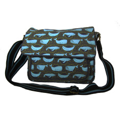 Tamelia cotton canvas Whale satchel