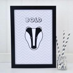 Childrens Badger Chevron Print