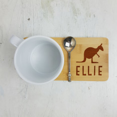 Personalised Kangaroo Mug Coaster