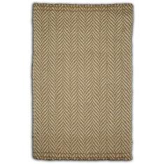 Handmade wool and jute blend rug