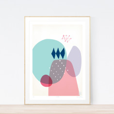 Moonlit art print