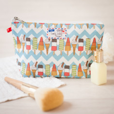 Ice Cream Lolly Chevron Makeup Toiletry Wash Bag