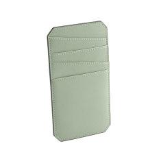 Name leather cardholder (desert sage)