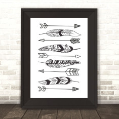 Tribal Feathers and Arrows Print