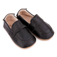 Pre-walker leather loafers in black