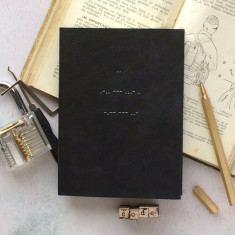 Luxury Leather Morse Code 2018 Diary