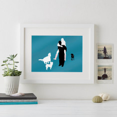 Family Silhouette Personalised Print