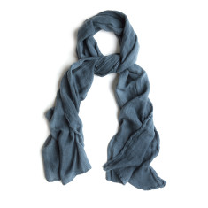 Linen Scarf Thick - Petrol