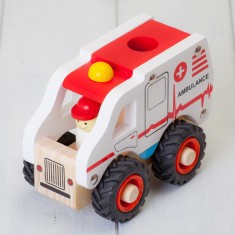 Childrens Wooden Ambulance