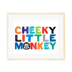 Cheeky Little monkey print