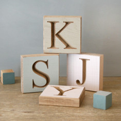 Personalised Pastel Oak Letter Block