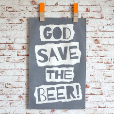 God save the beer tea towel