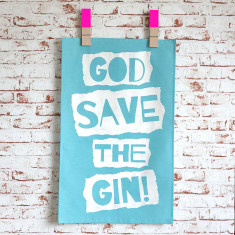 God save the gin tea towel