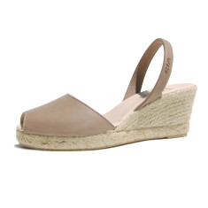 Foro velvet leather sandals in taupe