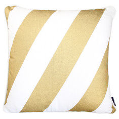 Gold classic stripe cushion cover