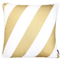Gold classic stripe cushion cover