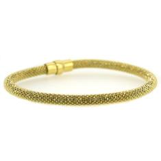 Sterling silver laser snake bracelet in gold