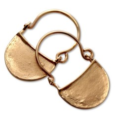 Byzantine 9ct solid gold earrings