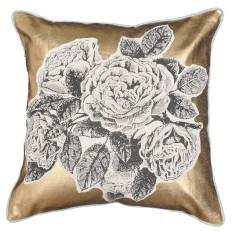 Gold roses cushion