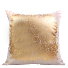 Gold splodge cushion