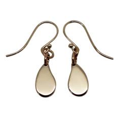 Little drop 9K gold earrings