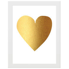 Gold-foil heart print
