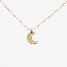 Little moon 9K gold necklace