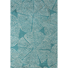 Aruba Blue/Antique White hand tufted wool rug