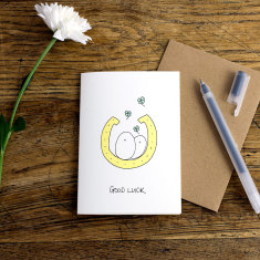 Good Luck greeting card (Pack of 6)