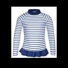 Girl's Positano Rash Vest - Nautical Navy