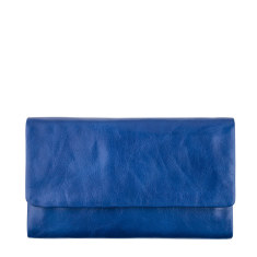 Audrey leather wallet in royal blue