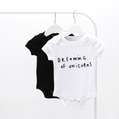 Dreaming Of Unicorns Baby Grow