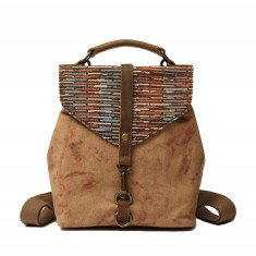 Canvas Backpack In Brown