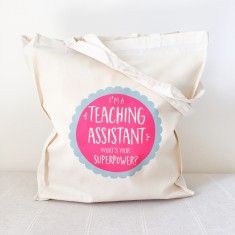 Teaching assistant superpowers tote bag