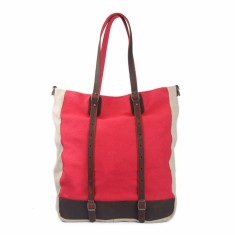 Red canvas tote bag/shoulder bag