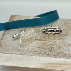 Silver Lozenge Shaped Cufflinks