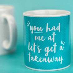 You had me at let's get a takeaway mug
