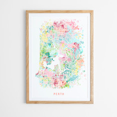 Perth abstract map print